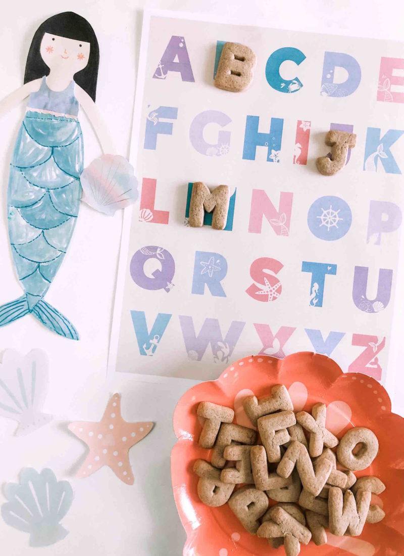 Mermaid Alphabet & Number Prints
