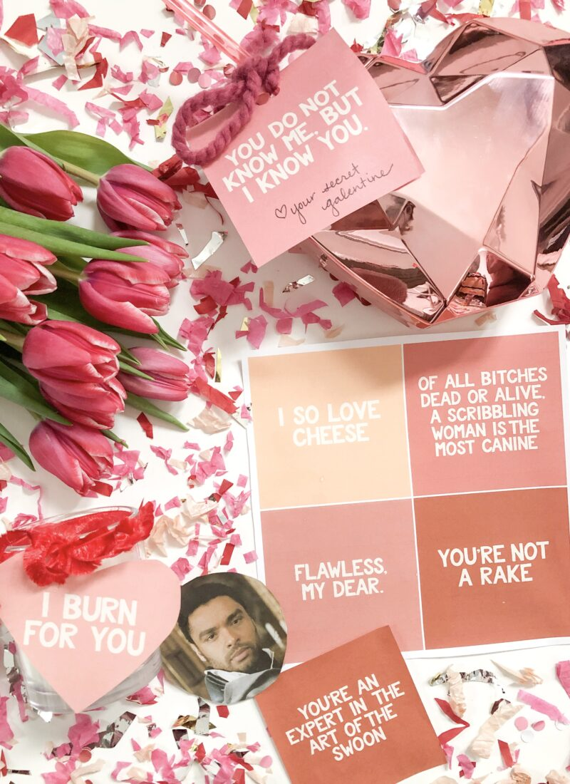 FREE DOWNLOAD: Bridgerton Themed Valentine Tags