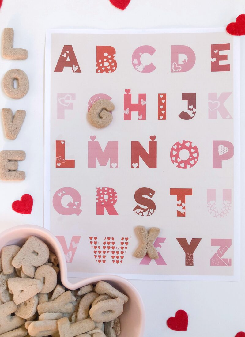 FREE DOWNLOAD: Valentine's Alphabet + Number Prints
