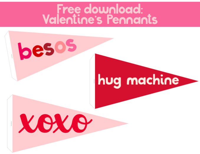 FREE DOWNLOAD: Valentine's Pennants