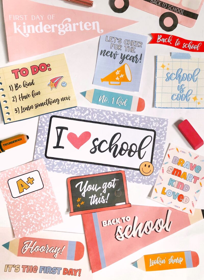Free Download: Back to School Prints & Pennants