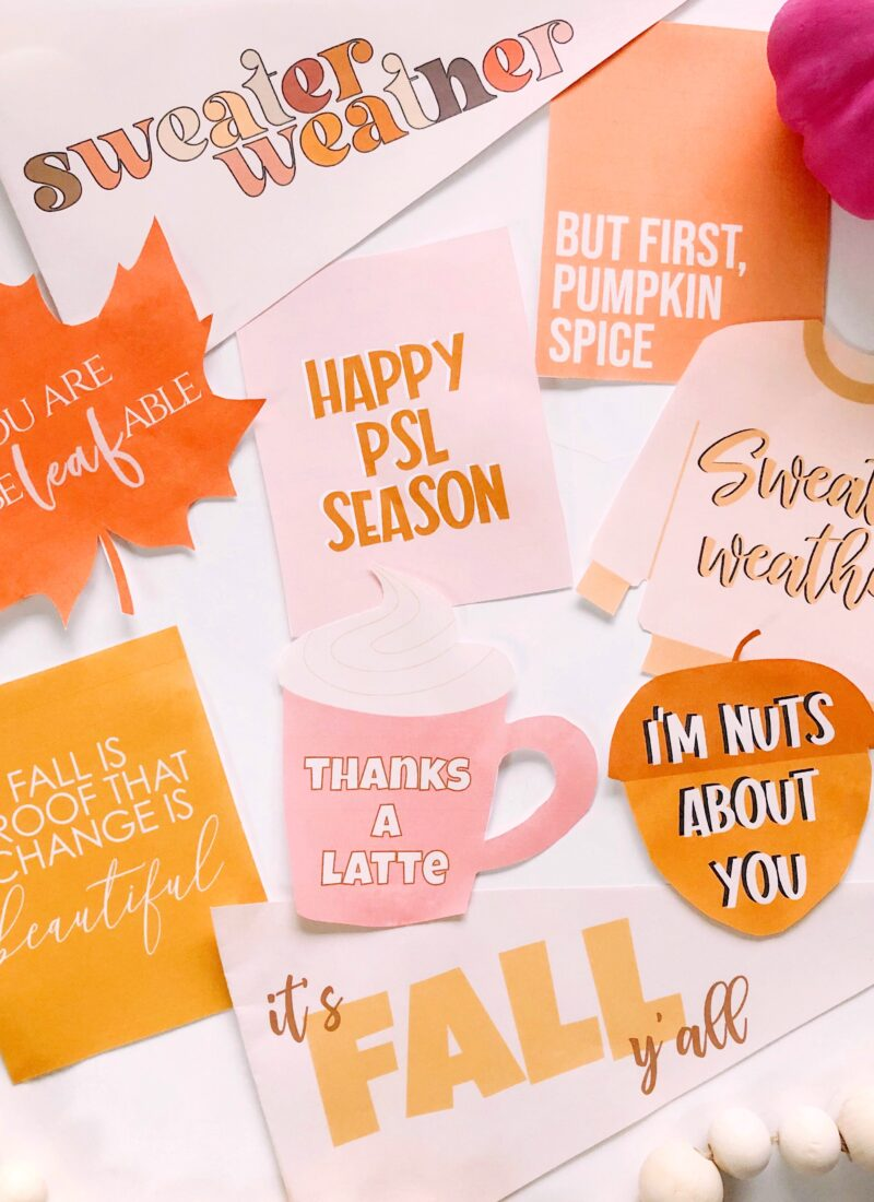 Fall Theme Printables!