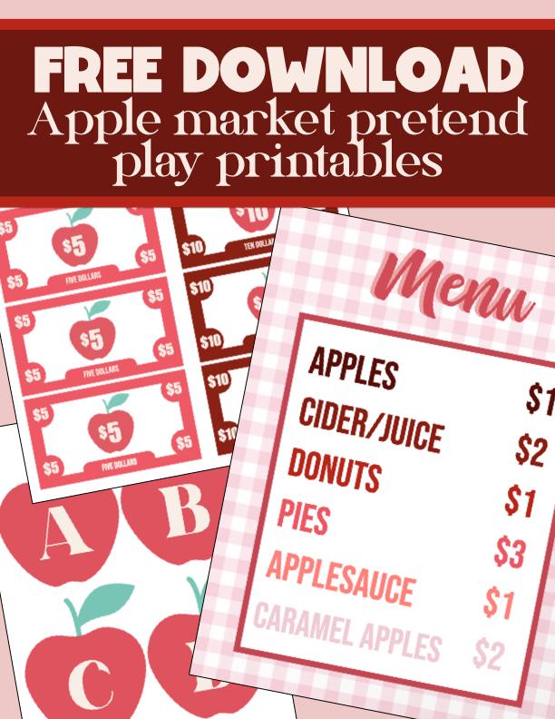 FREE DOWNLOAD: Apple Market Pretend Play Prints