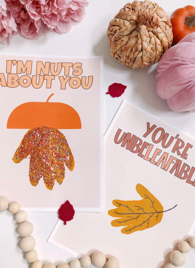 FREE DOWNLOAD: Fall Handprint Templates